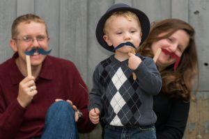 moustachioed family